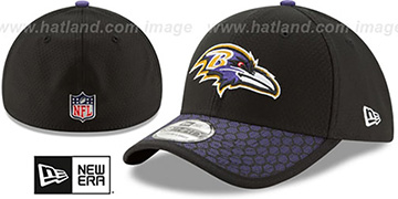 Ravens 'HONEYCOMB STADIUM FLEX' Black Hat by New Era