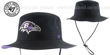 Ravens 'KIRBY BUCKET' Black Hat by Twins 47 Brand