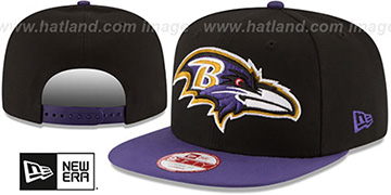 Ravens 'LOGO GRAND REDUX SNAPBACK' Black-Purple Hat by New Era