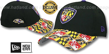 Ravens MARYLAND FLAG FLEX Black-Flag Hat by New Era