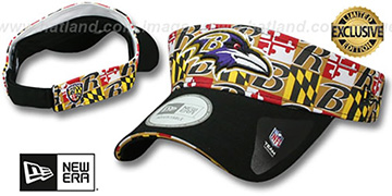 Ravens 'MARYLAND FLAG VISOR' Flag-Black by New Era