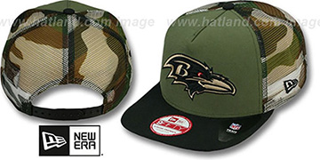 Ravens 'MESHED CAMO SNAPBACK' Army-Black Hat by New Era