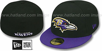 Ravens NFL 2T-TEAM-BASIC Black-Purple Fitted Hat by New Era