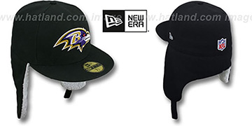 Ravens NFL-DOGEAR Black Fitted Hat by New Era