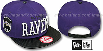 Ravens 'NFL ENGLISH-WORD SNAPBACK' Purple-Black Hat by New Era