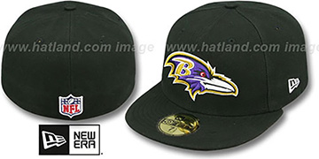 Ravens 'NFL STADIUM' Black Fitted Hat by New Era