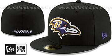 Ravens 'NFL TEAM-BASIC' Black Fitted Hat by New Era