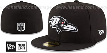 Ravens NFL TEAM-BASIC Black-White Fitted Hat by New Era