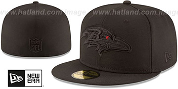 Ravens NFL TEAM-BASIC BLACKOUT Fitted Hat by New Era