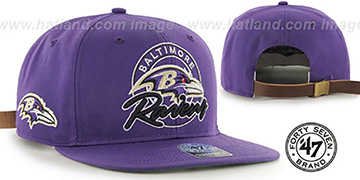 Ravens NFL VIRAPIN STRAPBACK Purple Hat by Twins 47 Brand