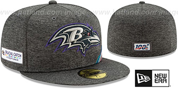 Ravens ONFIELD CRUCIAL CATCH Grey Fitted Hat by New Era