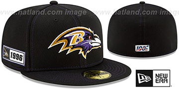 Ravens ONFIELD SIDELINE ROAD Black Fitted Hat by New Era