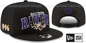 Ravens ONFIELD STADIUM 100 SNAPBACK Hat by New Era