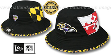 Ravens 'PANEL MARYLAND FLAG BUCKET' Hat by New Era