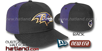 Ravens PINWHEEL-2 Black-Purple Fitted Hat