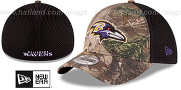 Ravens 'REALTREE NEO MESH-BACK' Flex Hat by New Era
