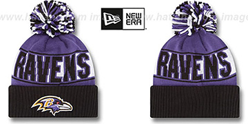 Ravens 'REP-UR-TEAM' Knit Beanie Hat by New Era