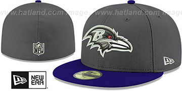 Ravens SHADER MELT-2 Grey-Purple Fitted Hat by New Era