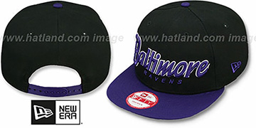 Ravens 'SNAP-IT-BACK SNAPBACK' Black-Purple Hat by New Era
