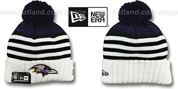 Ravens SNOWFALL STRIPE Knit Beanie Hat by New Era