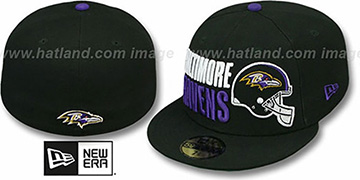 Ravens STACK-THE-BOX Black Fitted Hat by New Era