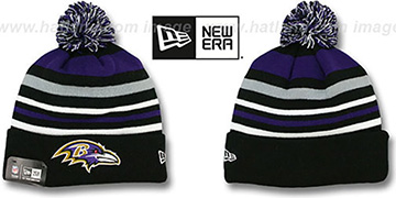 Ravens 'STRIPEOUT' Knit Beanie Hat by New Era