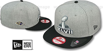 Ravens SUPER BOWL XLVII  SNAPBACK Grey-Black Hat by New Era