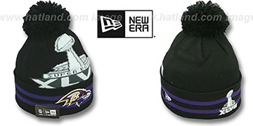 Ravens SUPER BOWL XLVII Black Knit Beanie Hat by New Era