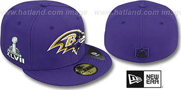 Ravens SUPER BOWL XLVII Purple Fitted Hat by New Era