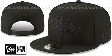 Ravens TEAM-BASIC BLACKOUT SNAPBACK Hat by New Era