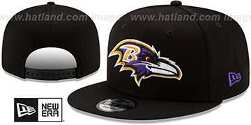 Ravens TEAM-BASIC SNAPBACK Black Hat by New Era