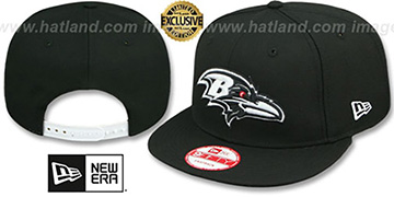 Ravens TEAM-BASIC SNAPBACK Black-White Hat by New Era