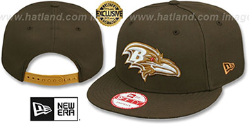 Ravens TEAM-BASIC SNAPBACK Brown-Wheat Hat by New Era