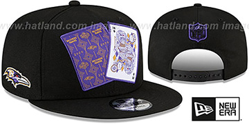 Ravens TEAM-CARDS SNAPBACK Black Hat by New Era