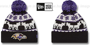 Ravens THE-MOOSER Knit Beanie Hat by New Era