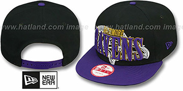 Ravens 'THROUGH SNAPBACK' Black-Purple Hat by New Era