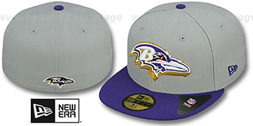 Ravens TRACE-POP Grey-Purple Fitted Hat by New Era