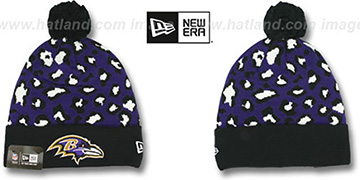 Ravens 'WINTER-JUNGLE' Knit Beanie Hat by New Era
