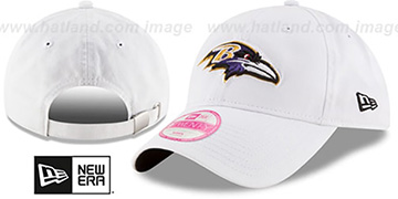 Ravens 'WOMENS PREFERRED PICK STRAPBACK' White Hat by New Era