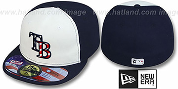 Rays '2011 STARS N STRIPES' White-Navy Hat by New Era