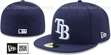 Rays AC-ONFIELD GAME Hat by New Era