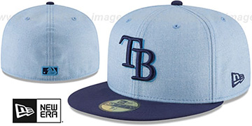 Rays '2018 FATHERS DAY' Sky-Navy Fitted Hat by New Era