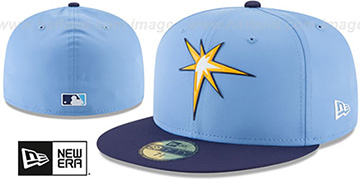 Rays 2018 PROLIGHT-BP ALTERNATE Sky-Navy Fitted Hat by New Era