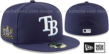 Rays 2020 WORLD SERIES GAME Fitted Hat by New Era