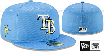 Rays DASHMARK BP Sky Fitted Hat by New Era