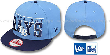 Rays LE-ARCH SNAPBACK Sky-Navy Hat by New Era