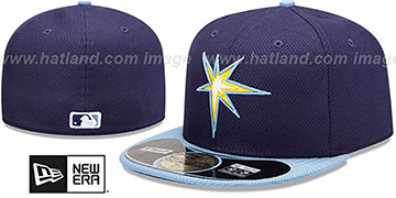 Rays MLB DIAMOND ERA 59FIFTY Navy-Sky BP Hat by New Era