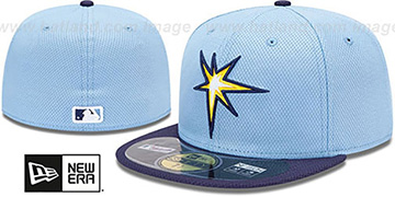 Rays MLB DIAMOND ERA 59FIFTY Sky-Navy BP Hat by New Era
