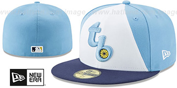 Rays 'TURN-BACK-THE-CLOCK' Fitted Hat by New Era