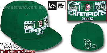 Red Sox 2004 St PATS WS CHAMPS Green Fitted Hat by New Era